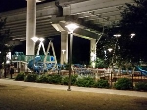 Under the Arthur Ravenel Jr. Bridge is a fabulous nautical themed playground which is part of the Mount Pleasant Waterfront Park.